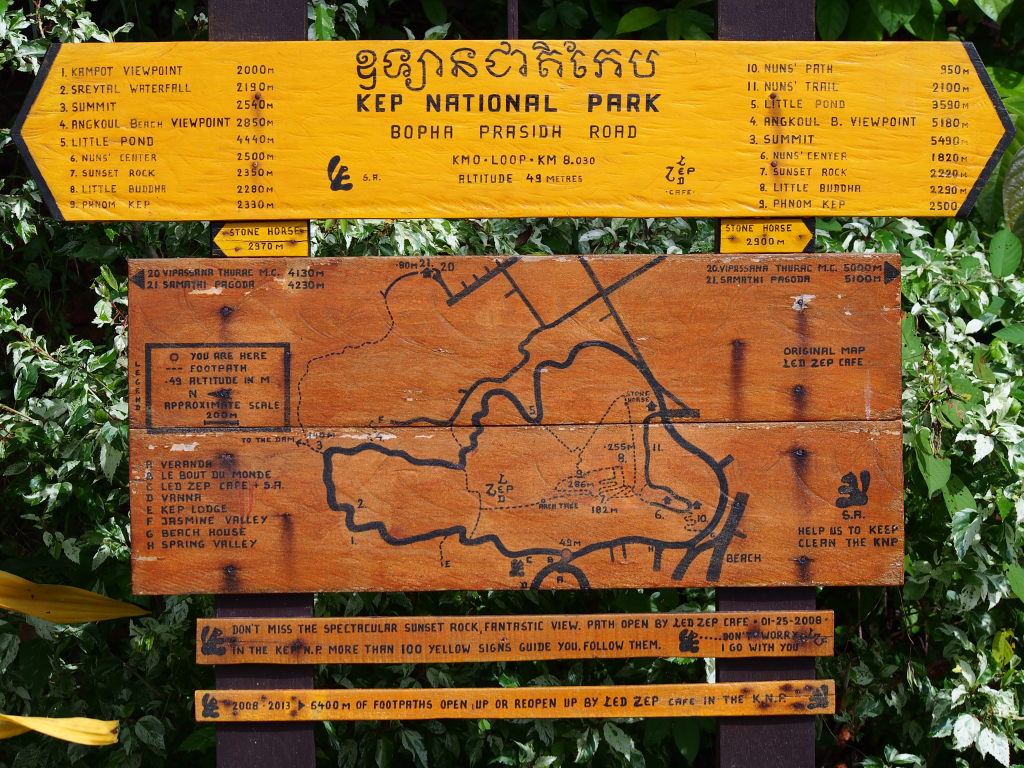 Kep National Park Map